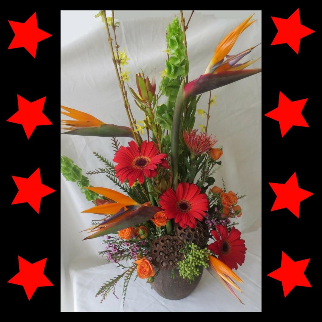 tropical flower arrangements birds of paradise bouquet houston 2