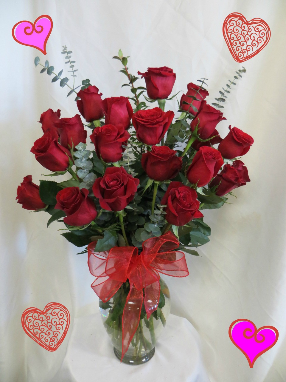 Schön Two Dozen Roses For Valentines Day RED By Enchanted Florist Pasadena TX.  This Show Stopping