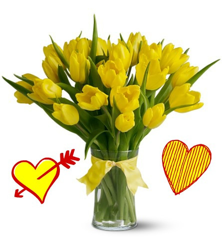 20 yellow tulips for valentines day | enchanted florist, Ideas