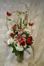 Wild Butterflies and Red Roses by Enchanted Florist Pasadena TX - Same-day delivery available in Houston Texas and surrounding areas. Item RM125