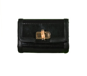 Recycled Clutch with Bamboo