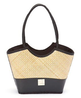 Recycled Layflat & Bamboo Bag with Fabric Handle