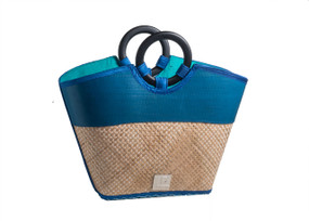 Criss-Cross pattern Bamboo handbag