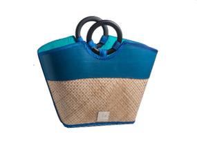 Criss-Cross pattern Bamboo handbag