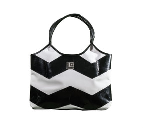 "Black & White Eco-Chic ""Trashion"" Tote"