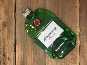 Tanqueray Gin Handmade melted bottle serving tray - Great one kind gifts