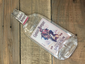 Captain Morgan spiced rum Handmade melted bottle serving tray - Great one of kind gift