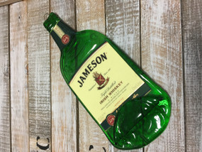 Jameson Irish whiskey serving tray - Melted Glass Whiskey Cheese Plater