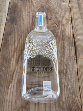 Belvedere Handmade Vodka serving tray - Melted Glass Vodka Cheese Plater