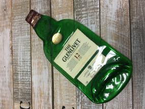 Glenlivet Distillery Handmade melted bottle serving tray - Great one kind gifts
