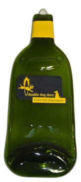 Double Dog Dare Melted Wine Bottle Cheese Serving Tray - Wine Gifts