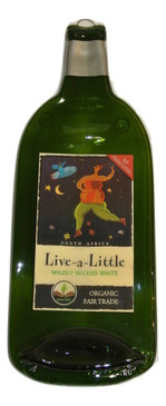 Live A Little Melted Wine Bottle Cheese Serving Tray - Wine Gifts