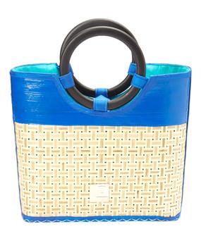 Recycled Hand Made Upcycled Layflat & Bamboo Handbag