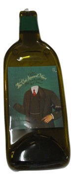 The One Armed Man Red Blend Dry Creek Valley Melted Wine Bottle Cheese Serving Tray - Wine Gifts