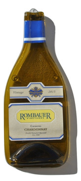 Rombauer Vineyards - Chardonnay Melted Wine Bottle Cheese Serving Tray - Wine Gifts