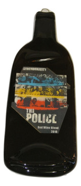 The Police Synchronicity Red Wine Blend 2012 Melted Wine Bottle Cheese Serving Tray - Wine Gifts