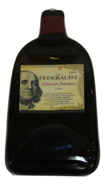 Federalist Cabernet Sauvignon Lodi Melted Wine Bottle Cheese Serving Tray - Wine Giftse Red Dry Creek Valley Melted Wine Bottle Cheese Serving Tray - Wine Gifts