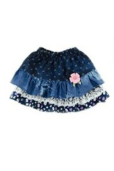 Denim layered tutu  Skirt