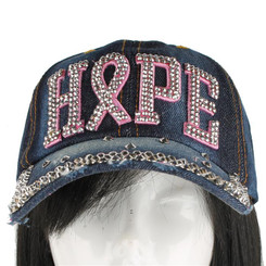 HOPE Breast Cancer Hat - Dark Denim