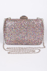 Nikki Mixed Sparkle Clutch