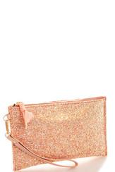 Pink Square glitter clutch