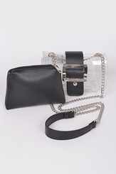 two in one black clutch