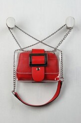 Two in one red clutch