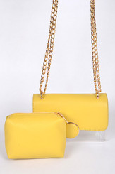 Two in one yellow clutch