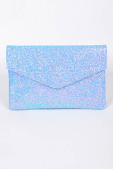 Blue envelope Sparkling Clutch