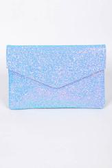 Blue envelope Sparkling Clutch