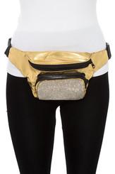 Gold Rhinestone Fanny Pack