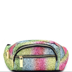 Multi Colored Glitter Fanny Pack - Green