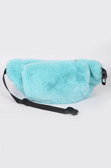 Mint Faux Fur Fanny Pack (Vegan )