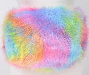Cotton Candy Faux Fur Fanny Pack (vegan)