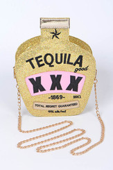 Gold Tequila Clutch