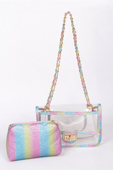 two in one rainbow clutch
