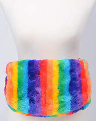Rainbow Faux Fur Fanny Pack (Vegan)