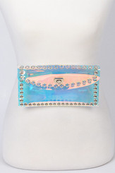 Multicolor Clear fashion fanny Pack