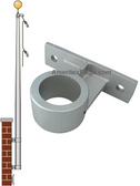 22 ft Vertical Wall Mount Flagpoles