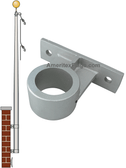 27 ft Vertical Wall Mount Flagpoles