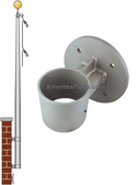 33 ft Vertical Wall Mount Flagpoles