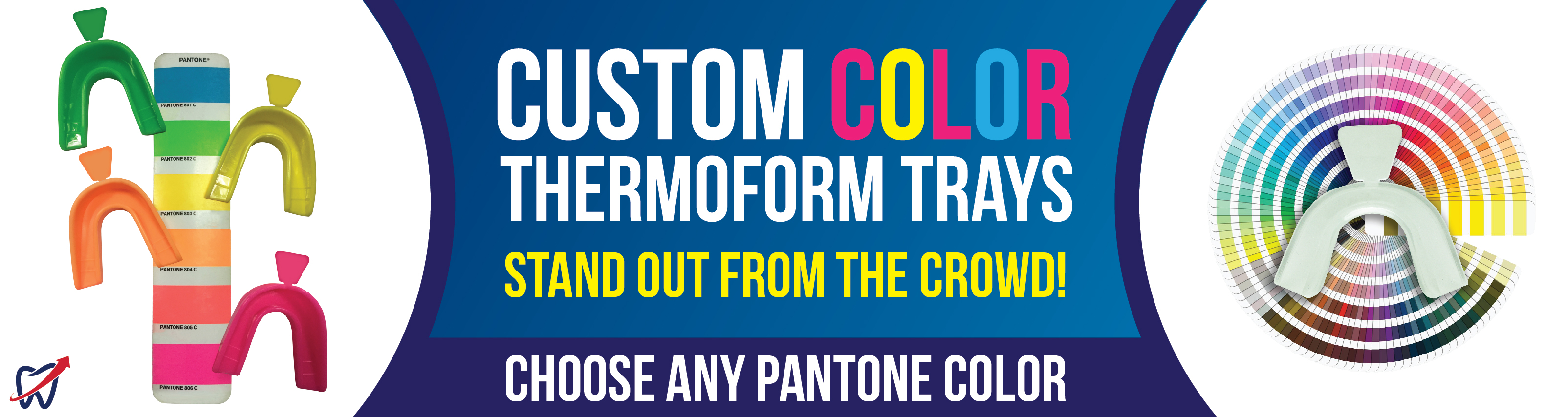 Custom Colored Heat and Form Trays. Choose ANY Pantone Color!