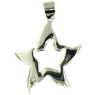 Stainless Steel Star Fish CZ Pendant *Comes with Free Stainless Steel chain