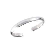 Rounded Band Sterling Silver Toe Ring Adjustable  Face Height: 2 mm (0.079 inch) Metal Material: Sterling Silver 9.25
