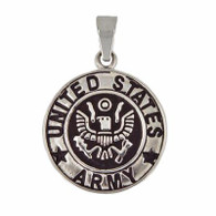 US Army Medallion Pendant Includes Stainless Steel Rope Chain 30mm Matte finish / High polish finish 316L Stainless Steel  Choice of rope chain length 20 or 24 inch