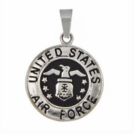 US Air Force Medallion Pendant Includes Stainless Steel Rope Chain 30mm Matte finish / High polish finish 316L Stainless Steel   Choice of rope chain length 20 or 24 inch