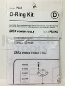 Grex Replacement O-Ring Kit for P635 Pinner - P635KD