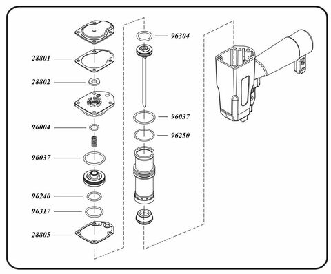 Grex Replacement O-Ring Kit - 1850GBKD