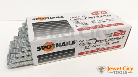 "Spotnails 22 Gauge Upholstery Staples 3/8"" crown - 87004"