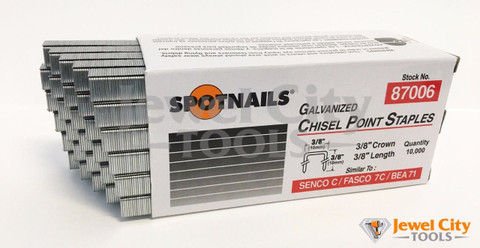 "Spotnails 22 Gauge Upholstery Staples 3/8"" crown - 87006"